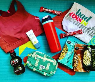 🏃🏿♂️ SUMMER FITNESS GIVEAWAY! 🧘♂️  Hey friends—it's time for my Summer ☀️ Fitness Giveaway! I've got a bunch of fabulous 🎁 to help you stay fueled and hydrated 💦 and inspired while you get your sweat on this summer. This giveaway is worth hundreds of $$$! Here's what one lucky winner will receive: 🏃♀️ A @brooksrunning Drive 3 Pocket bra. This supportive bra sports 3  pockets! 2 on the sides for keys/card and one on the back for your phone, an energy bar, and more! 🚴 3 bags of @wonderfulpistachios, including 2 NEW flavors, plus a 16-oz bottle of POM Wonderful 100% pomegranate juice 💦 24-oz @owala water bottle that will keep your water cold for 24 hours ☀️Avon Anew @avoninsider Hydrafusion Daily Beauty Defense SPF 50 to protect your skin from the ☀️  👚 Cute lightweight #badass tank from @bettydesigns 🧘🏻♀️ Yoga mat from @chiuniverseyoga. Symbols on the mat help with alignment. Comes with a free app and fun game! 😎 Cool, sustainably-sourced and #fairtrade fanny pack from @tag_aloha to hold your fitness essentials 🧘 1-month membership + 1 private Zoom session with Jess from @hiitandrunyoga 💥9 packs of @clifbar BLOKS Strawberry 🍓 Energy Chews, which provide fast-acting, chewable energy + sodium to athletes while training and racing Are you blown away yet? 😳 To enter: 1. Like this post 😁 2. Follow me andall brands tagged 3. Tag 2 fitness friends who would love these goodies🎁 4. Let me know what keeps you inspired to keep moving!🧘🚴🏃🏿♂️ This giveaway runs through Friday, June 11th, and the winner will be announced here on the 12th. 🇺🇸 US entries only for shipping purposes please. Good luck! 🍀 #summerfitness  #giveawaytime  #fitnessgiveaway  #brooksrunning  #runhappy  #waterbottle  #pistachios  #yogamats  #sportsbras  #fannypack #fitmamas  #fitnessgear  #wonderfulpistachios  #summersweat  #yogainspiration  #getyoursweaton  #avonhydrafusion  #moveyourbody
