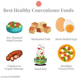 🙌🏼My fave 6 Convenience Foods🙌🏼 Some weeks are busier/harder than others. That's when I lean on convenience foods and you can too! There is ZERO wrong with using convenience foods, especially when they help you put healthy, no-stress meals and snacks together. This is a 4-day school week, so guess what I'm leaning into this week? 👆😁 There are TONS of great options out there, but these are my 6 faves: 1. Pre-washed 🥗 greens: These time-savers can be the base of a 🥗 of course, but are also wonderful for tossing with 🍝, 🍤 or even making a healthy bed for a 🍔  2. Marinated tofu: This 🌱 protein has been a go-to of mine since college. With or without cooking, it adds a hefty dose of protein to salads, stir fries 🥦 grain bowls and more 👍 3. Hard boiled 🥚: For snacks, lunch boxes or as part of salads and bowls, it's tough to beat a hard-boiled 🥚 I like dipping them in another great convenience food, hummus! 😋 4. 🐔 or 🌱 sausages: Flavorful and super fast, chicken and veggie sausages can jazz up a bowl of 🥗 or add filling protein to a bowl of 🍝 BONUS: very family friendly 🧒🏼  4. Salad kits: Yep, I'm a recipe developer and cookbook writer, and I know how to make salad dressing myself, but when ⏰ is of the essence, I like having 🥗 kits on hand to make a quick & tasty meals. 6. Frozen 🍕: Wait—did she just say frozen 🍕😳 Heck yeah I did! This mom of 3 keeps better for you frozen 🍕 on hand for quick lunches and dinners for myself & my kids. And if I pair them with #1 or #2 above, that's a pretty damn balanced meal😋 What's your fave healthy convenience food you always keep on hand?  #healthyconvenience  #easyandhealthy  #frozenfood  #saladkits  #prewashedgreens  #eatmoreplants  #eatmoreveggies  #hardboiledeggs  #easymealsforbusypeople  #momof3kids  #easyveganmeals  #superfastmeal  #marinatedtofu  #easyvegan  #easyveganmeals  #nutritionistapproved  #stressless
