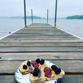 🛶 FUEL YOUR ADVENTURE 🛶 Dedicating this #toasttuesday to getting out of your comfort zone and staying fueled for wherever the day takes you. #adirondacks  #saranaclake  #toasttuesday  #fuelforadventure  #neverstopexploring  #kayakingadventures  #hikingadventures  #pbtoast  #chiaseeds